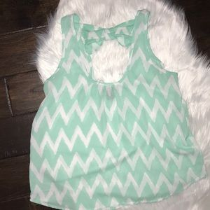 Tops - Mint chevron Tank